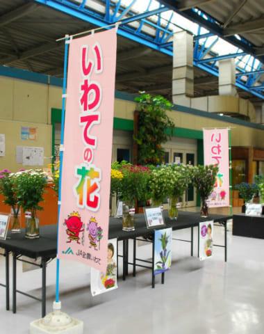 JA全農いわて「いわての花」中央通路展示を行いました