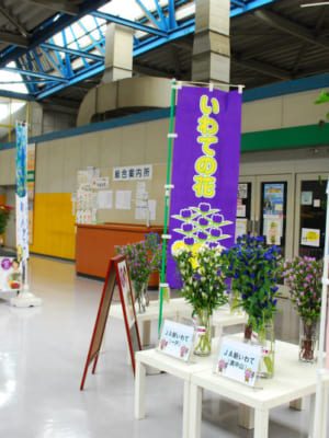 お彼岸向け展示・JA全農いわて「岩手県産花き展示フェア」を行いました。