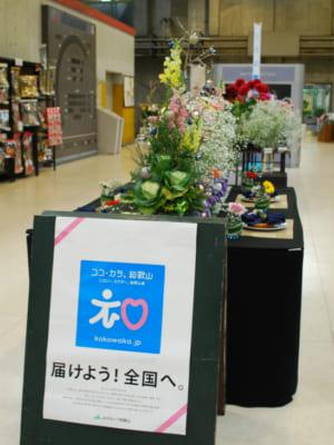 中央通路に和歌山県産花きを展示いたしました